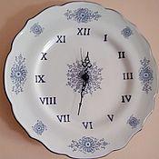 Для дома и интерьера handmade. Livemaster - original item Watch : The magic blue and white watch of Alcora. Handmade.