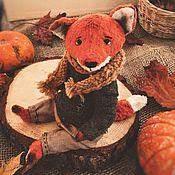 Куклы и игрушки handmade. Livemaster - original item Teddy Animals: Mr. Fox. Handmade.