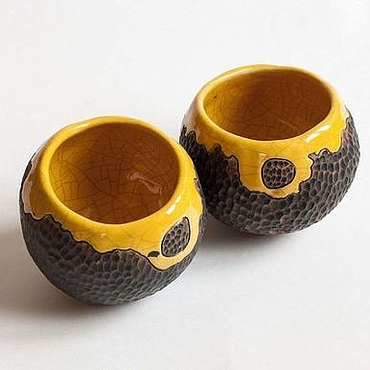 """Посуда ручной работы. Ярмарка Мастеров - ручная работа Комплект пиал """"Дикий мед"""". Handmade."""