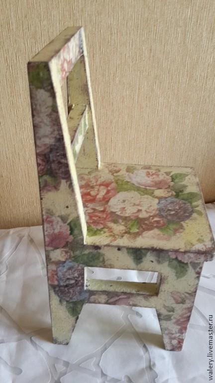 Подставки под цветы ручной работы. Ярмарка Мастеров - ручная работа. Купить Стул для куклы  ИЛИ  подставка для цветка. Handmade.