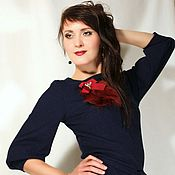 """Одежда ручной работы. Ярмарка Мастеров - ручная работа Трикотажное платье тёмно-синее """"Индиго"""". Handmade."""