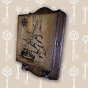 Для дома и интерьера ручной работы. Ярмарка Мастеров - ручная работа Ключница  Парусник. Handmade.
