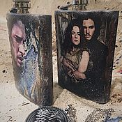 Подарки к праздникам handmade. Livemaster - original item Game of Thrones flask. Handmade.