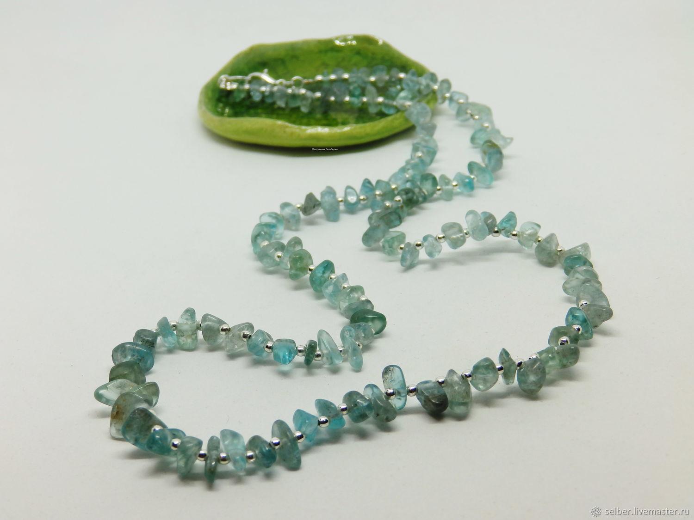 Beads Arctic Ice 50 cm (apatite blue), Beads2, Gatchina,  Фото №1