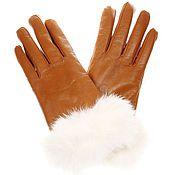Аксессуары ручной работы. Ярмарка Мастеров - ручная работа Кожаные перчатки рыжий. Handmade.