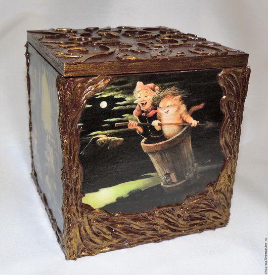 """Шкатулки ручной работы. Ярмарка Мастеров - ручная работа. Купить Шкатулка-короб """"Лесные сказки"""". Handmade. Шкатулка, сказка, коричневый"""