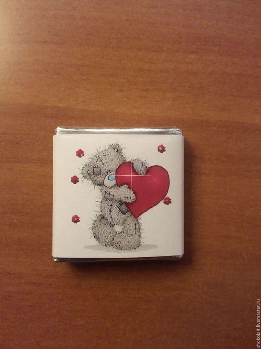 Подарки для влюбленных ручной работы. Ярмарка Мастеров - ручная работа. Купить Мини-шоколадка Тедди арт 002-16. Handmade.