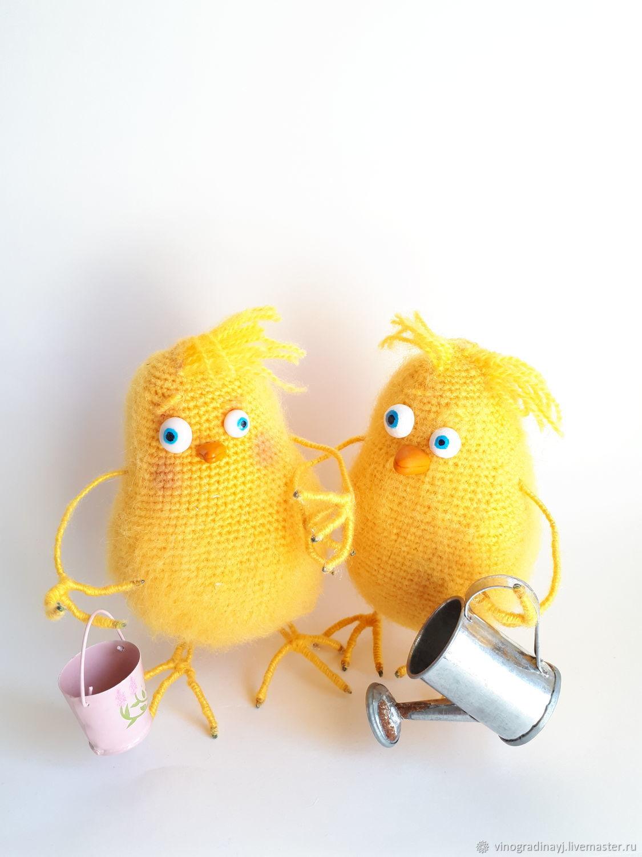 Цыпленок. Пасхальный цыпленок, Амигуруми куклы и игрушки, Антропово,  Фото №1
