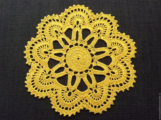 Текстиль, ковры ручной работы. Ярмарка Мастеров - ручная работа. Купить Салфеточка желтая. Handmade. Желтый, Салфетка вязаная