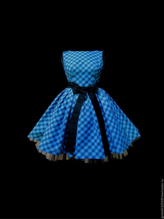 """Платья ручной работы. Ярмарка Мастеров - ручная работа. Купить Платье """"Лилит"""". Handmade. Синий, выпускной, пышная юбочка, кант"""