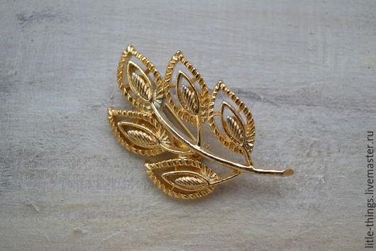 Винтажные украшения. Ярмарка Мастеров - ручная работа. Купить Винтажная брошь от Gerry s. Handmade. Золотой, винтажный стиль