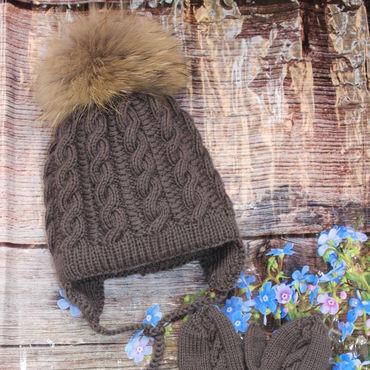 Works for children handmade. Livemaster - original item Knitted winter set for boy. Handmade.