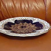 Винтаж handmade. Livemaster - original item Dish Plate Cobalt Weimar - Weimar-Germany -. Handmade.