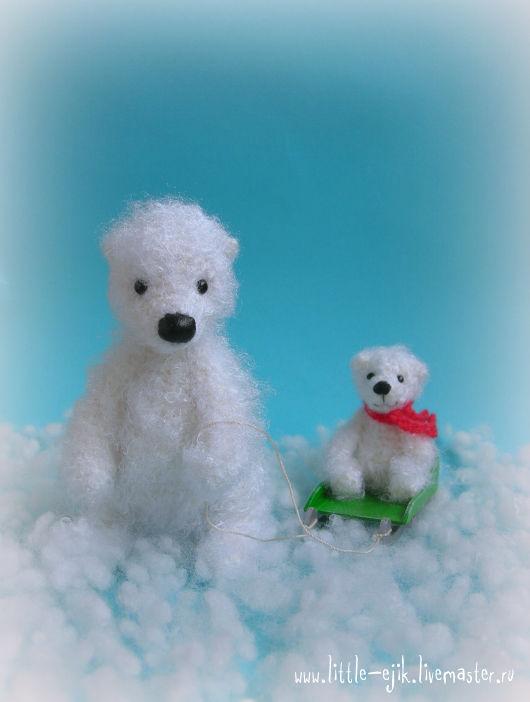 Игрушки животные, ручной работы. Ярмарка Мастеров - ручная работа. Купить Белая медведица и медвежонок. Handmade. Белый, малыш, зима