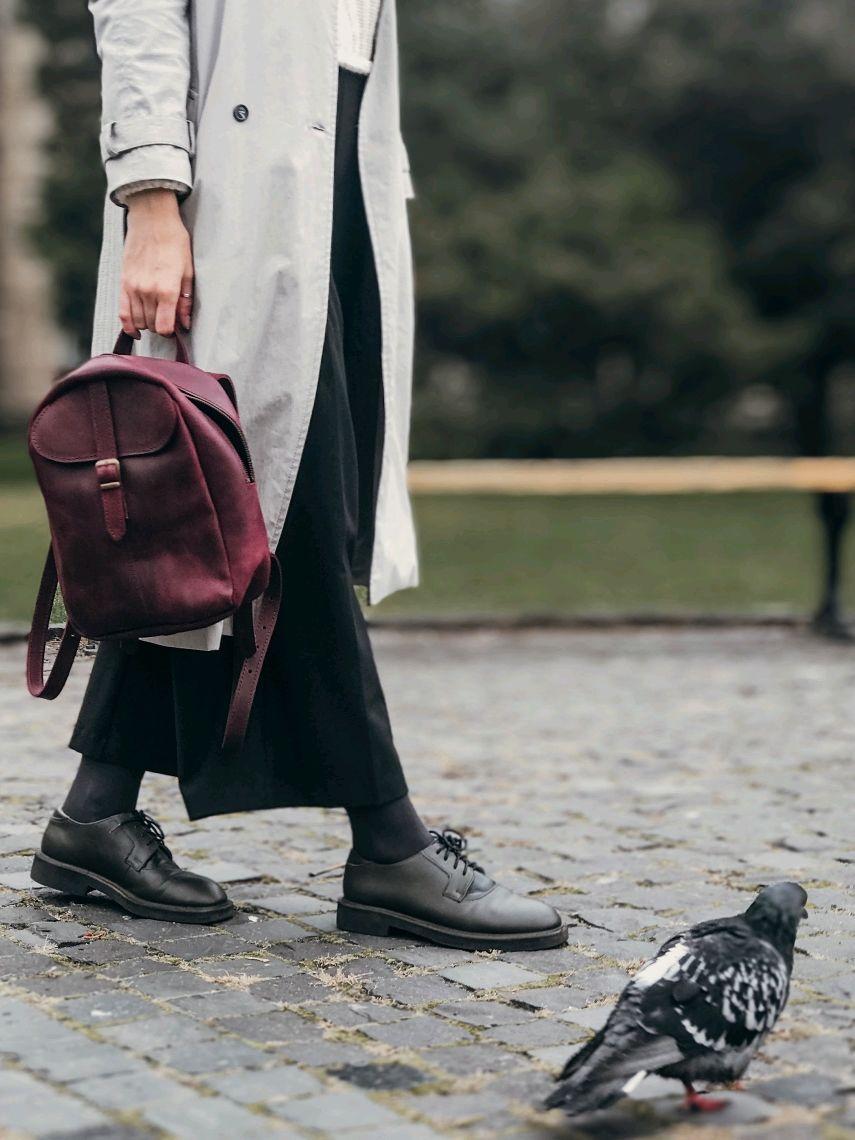 """Кожаный рюкзак """"Бейли"""" в винном цвете, Рюкзаки, Киев,  Фото №1"""