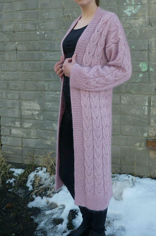 Вязаный кардиган из норвежского мохера и мериноса, Кардиганы, Миасс,  Фото №1