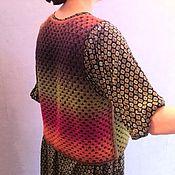 """Одежда ручной работы. Ярмарка Мастеров - ручная работа """"Оттенки цвета"""" - теплые жилеты из Кауни. Handmade."""