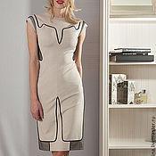 Одежда ручной работы. Ярмарка Мастеров - ручная работа АКЦИЯ!!! СКИДКА 50% НА ГОТОВЫЕ ИЗДЕЛИЯ!!!Платье FORTA бежевый. Handmade.