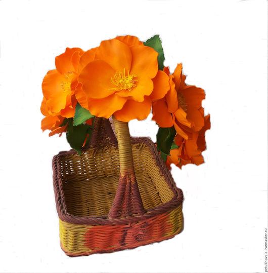 Диадемы, обручи ручной работы. Ярмарка Мастеров - ручная работа. Купить Венок на голову из фоамирана в апельсиновых, оранжевых тонах. Handmade.