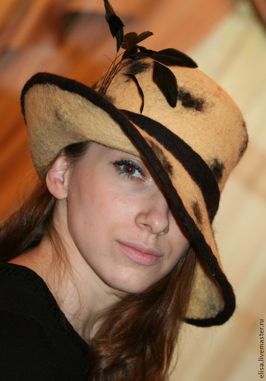 Головные уборы ручной работы. Шляпа слауч `Виндзор`. Автор Евгения Лисицына (Jane Fox). Ярмарка Мастеров