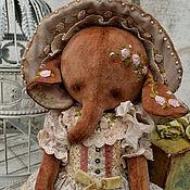 """Куклы и игрушки ручной работы. Ярмарка Мастеров - ручная работа Плюшевый слоник """"Бекки"""". Handmade."""