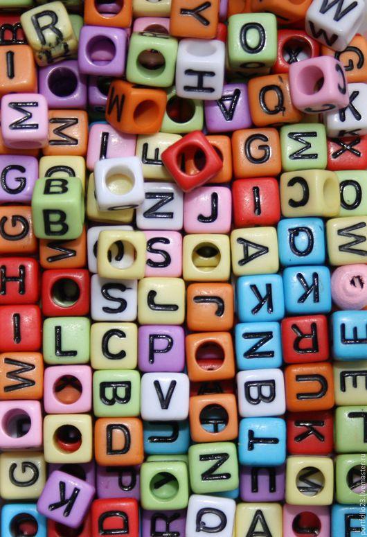 Шитье ручной работы. Ярмарка Мастеров - ручная работа. Купить Бусины алфавит. Handmade. Бледно-сиреневый, бусина, бусина для браслета