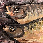 """Картины и панно ручной работы. Ярмарка Мастеров - ручная работа Картина """"Воообла"""", масло, 45х25. Handmade."""
