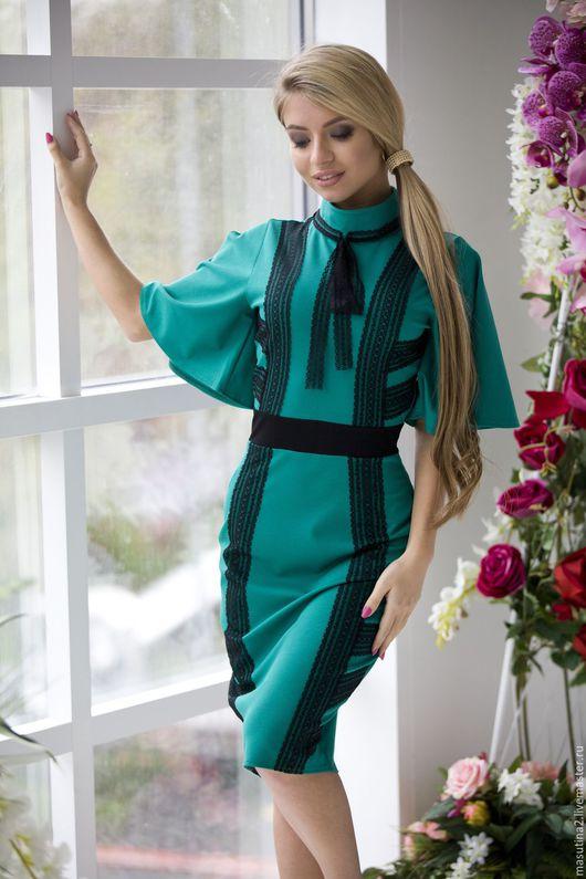 """Платья ручной работы. Ярмарка Мастеров - ручная работа. Купить Платье """"Мелиса"""". Handmade. Зеленый, сшить платье"""