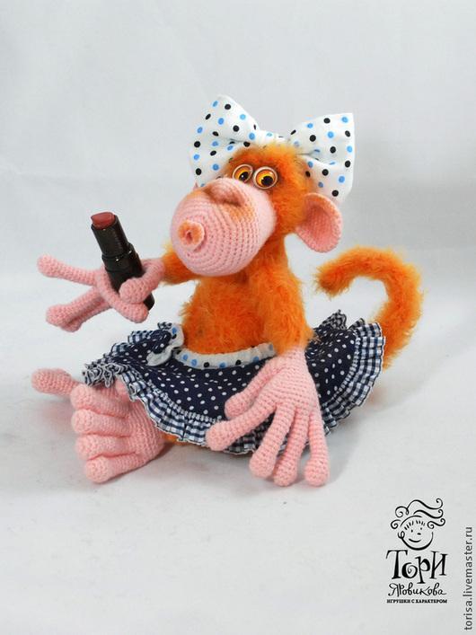 """Игрушки животные, ручной работы. Ярмарка Мастеров - ручная работа. Купить """"Неземная красота""""...обезьянка. Handmade. Оранжевый, неземная красота"""