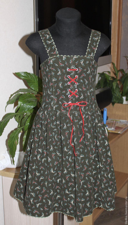 Сарафан из микровельвета в Баварском стиле, Платья, Заречье,  Фото №1