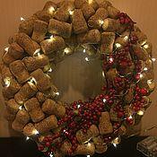 Интерьерные венки ручной работы. Ярмарка Мастеров - ручная работа Рождественский венок. Handmade.