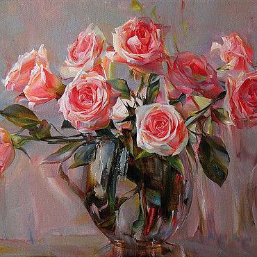 Картины и панно. Ярмарка Мастеров - ручная работа Картины: Розы. Handmade.