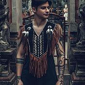 Одежда handmade. Livemaster - original item Indian costume (Cape-top with fringe). Handmade.