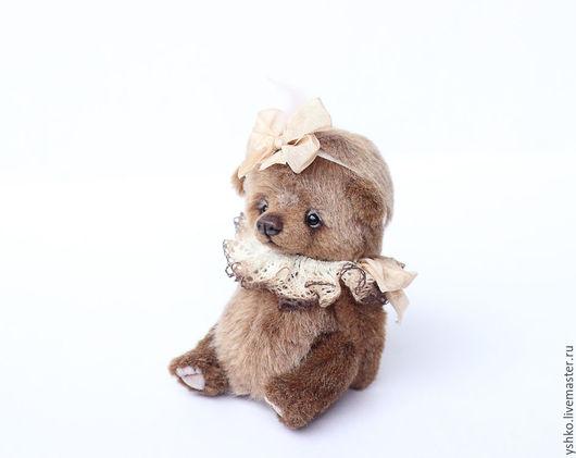 Мишки Тедди ручной работы. Ярмарка Мастеров - ручная работа. Купить Амели мишка тедди 14 см. Handmade. Бежевый