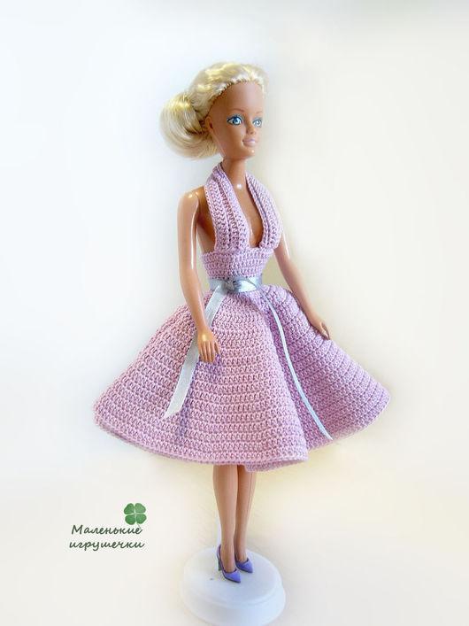 Одежда для кукол ручной работы. Ярмарка Мастеров - ручная работа. Купить Платье для Барби. Handmade. Бледно-сиреневый, одежда для барби