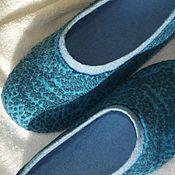 """Обувь ручной работы. Ярмарка Мастеров - ручная работа Тапочки валяные женские """"Бирюза"""". Handmade."""