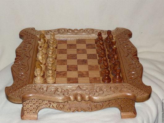 Элементы интерьера ручной работы. Ярмарка Мастеров - ручная работа. Купить шахматы из натурального красного дерева. Handmade. Замечательные