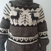 Одежда handmade. Livemaster - original item Knitted sweater.Sheep wool 100%. Handmade.