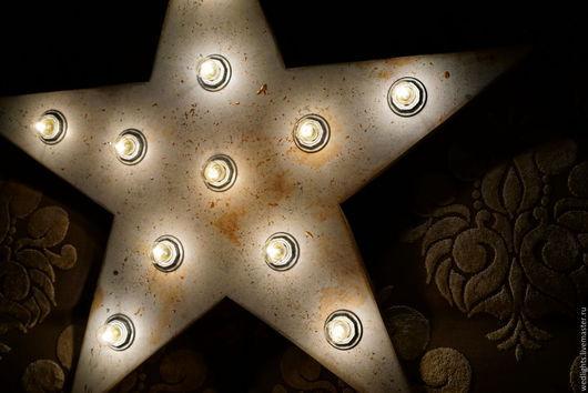 """Освещение ручной работы. Ярмарка Мастеров - ручная работа. Купить Светильник """"Звезда""""  75 см в стиле Loft (Светящаяся звезда). Handmade."""