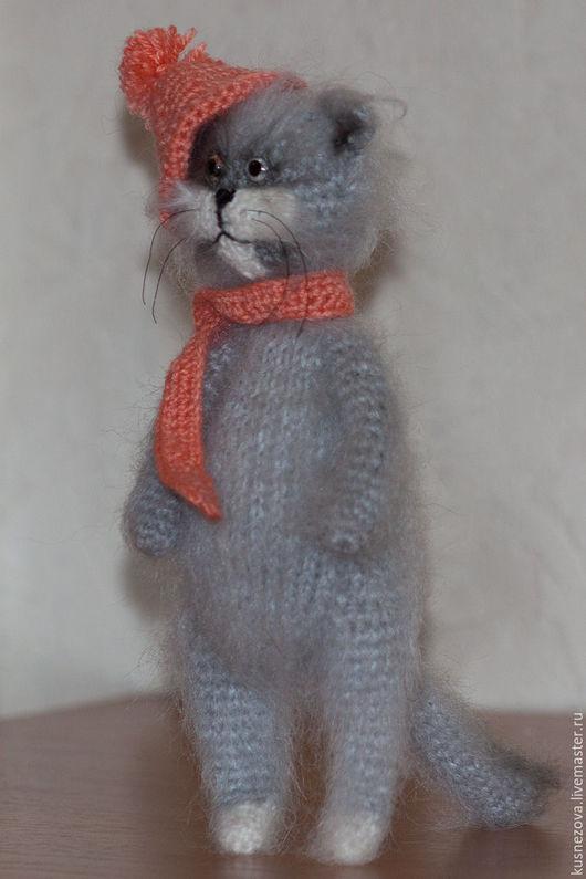 Игрушки животные, ручной работы. Ярмарка Мастеров - ручная работа. Купить Котик в шапочке и шарфике. Handmade. Разноцветный, котики