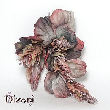 Flowers and floristry handmade. Livemaster - original item floral decoration. Silk flowers. FABRIC FLOWERS.. Handmade.