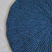 """Для дома и интерьера ручной работы. Ярмарка Мастеров - ручная работа вязаный коврик """"Аквамарин"""" круглый. Handmade."""