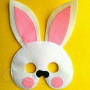 Работы для детей, ручной работы. Ярмарка Мастеров - ручная работа Маска зайца, маска из фетра, зайчик, зайка, карнавал, маскарад, заяц. Handmade.