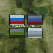 Материалы для творчества handmade. Livemaster - original item Badge the flag of Russia (casual/ subdued/ field/ winter). Handmade.