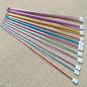 Крючки для вязания тунисские набор 11 шт размеры от 2 мм до 8 мм