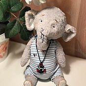Куклы и игрушки ручной работы. Ярмарка Мастеров - ручная работа Тедди слон морячок. Handmade.