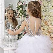 """Платье ручной работы. Ярмарка Мастеров - ручная работа Нарядное платье для девочки """"Белый Лебедь"""". Handmade."""