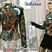 Одежда handmade. Livemaster - original item Exclusive lightweight women`s jacket made of genuine leather.. Handmade.