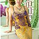 Платья ручной работы. Ярмарка Мастеров - ручная работа. Купить Платье вязаное крючком Богатый выход. Handmade. Тёмно-фиолетовый