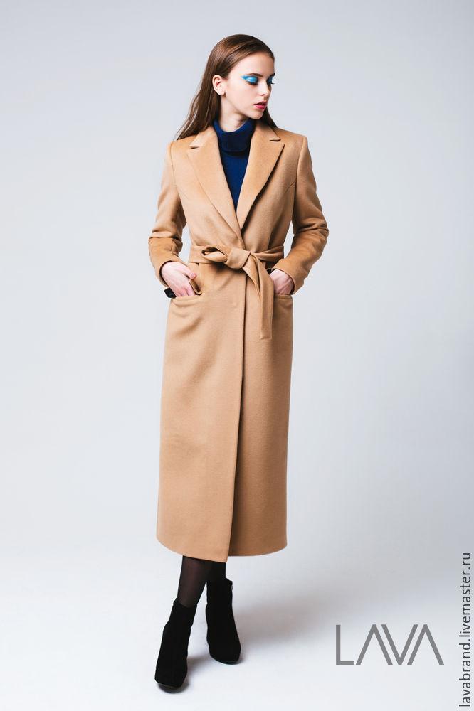 купить бежевое кашемировое женское пальто взлетал сторону
